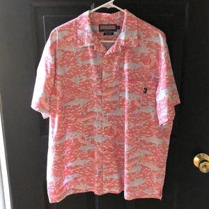 Vineyard Vines Men's Batik Shirt Shark Print